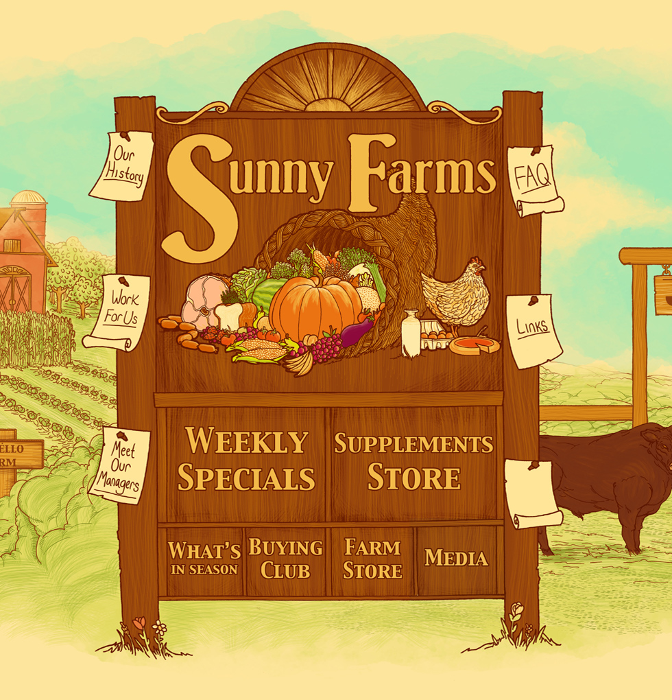 Sunny Farms Sign